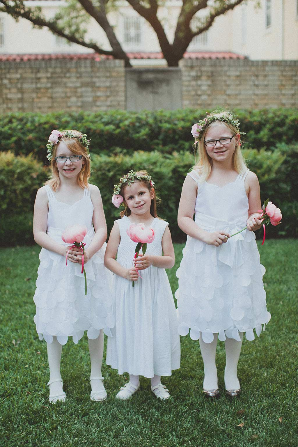Flower Girls with Floral Head Wreaths