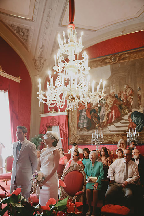 Red Room Florence Civil Wedding Ceremony