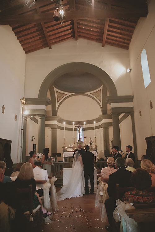 Castello Vicchiomaggio Chapel Italy Wedding Ceremony