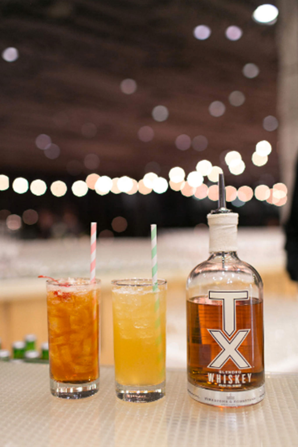 Texas his and hers whiskey signature wedding cocktails