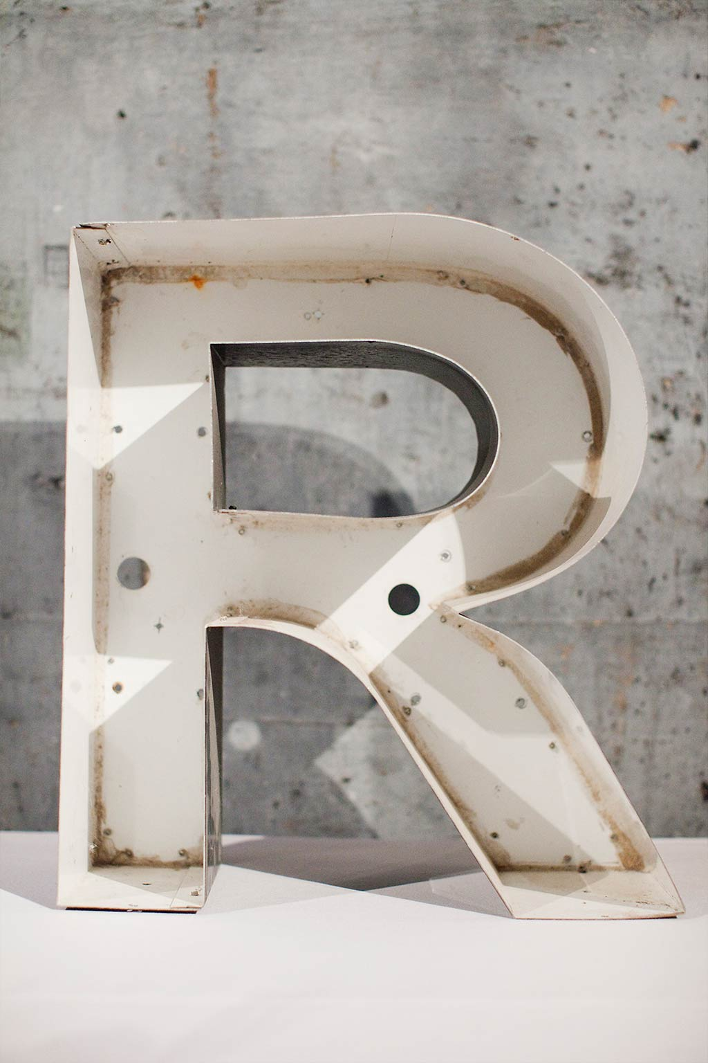 channel letter R for wedding decor