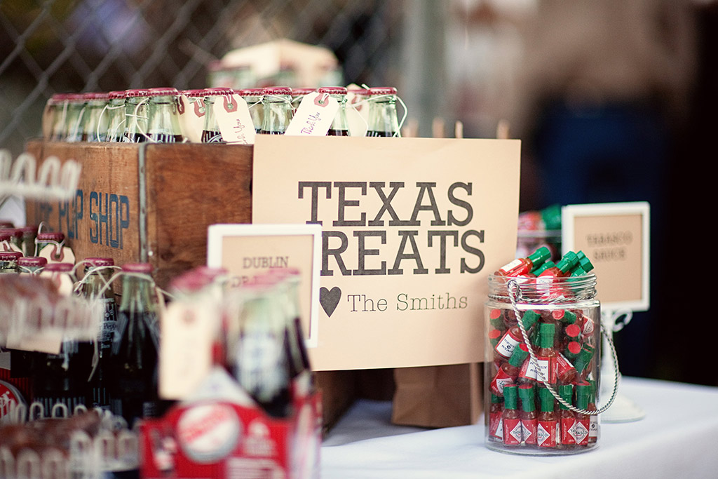 Texas treats wedding favor collection
