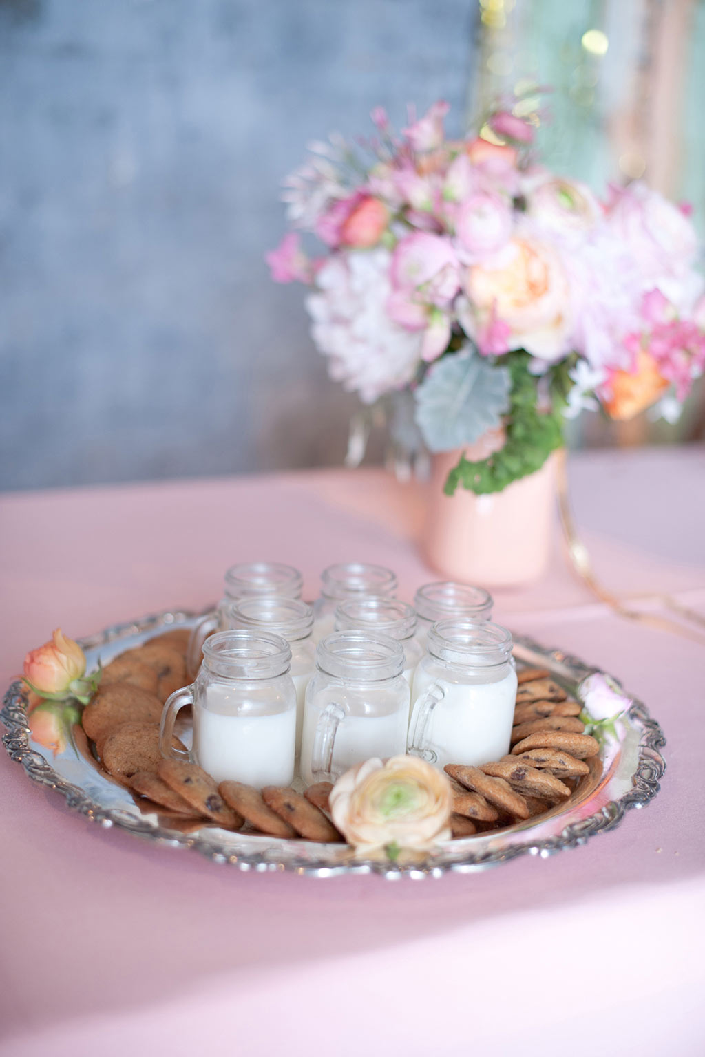 Milk and Cookies with Mini Mason Jar Late Night Wedding Pass