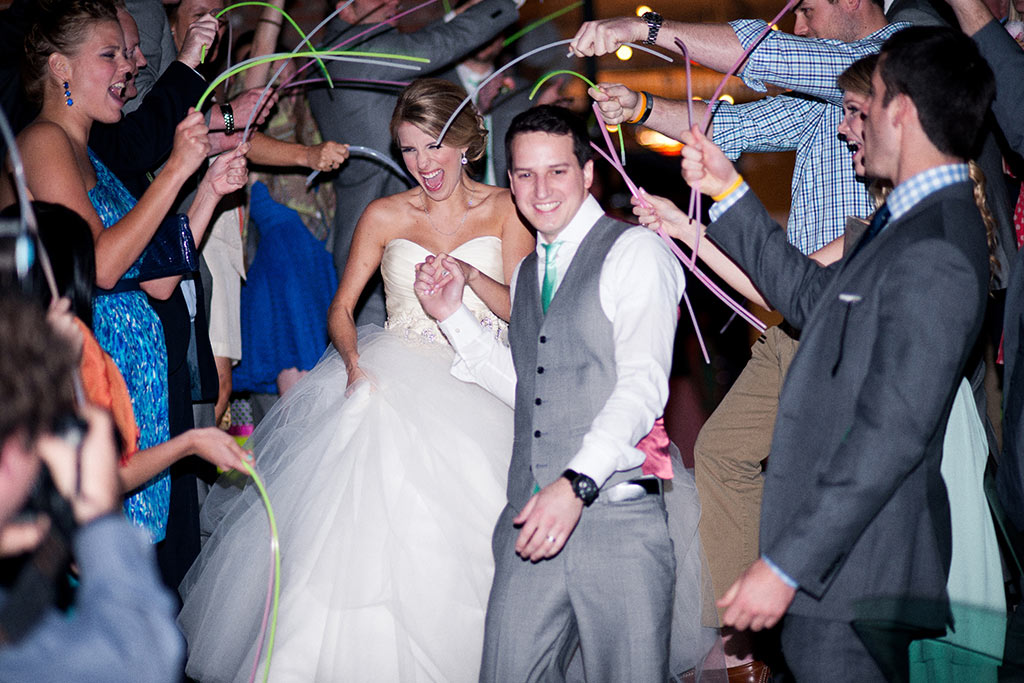 Glow Stick Wedding Grand Exit